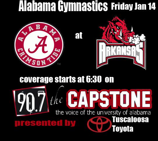 Gymnastics Head to Arkansas Friday