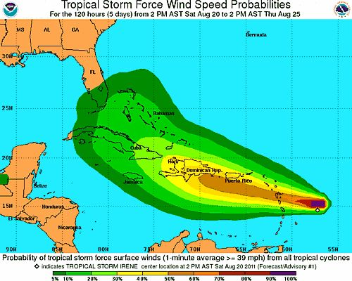 Florida bracing for arrival of Tropical Storm Irene