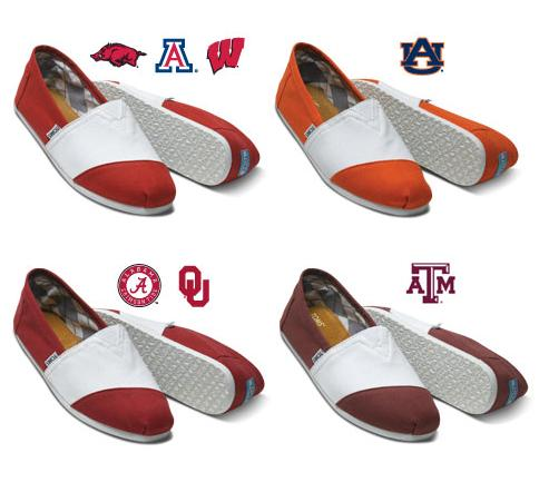 TOMS Now Feature School Spirit Shoes