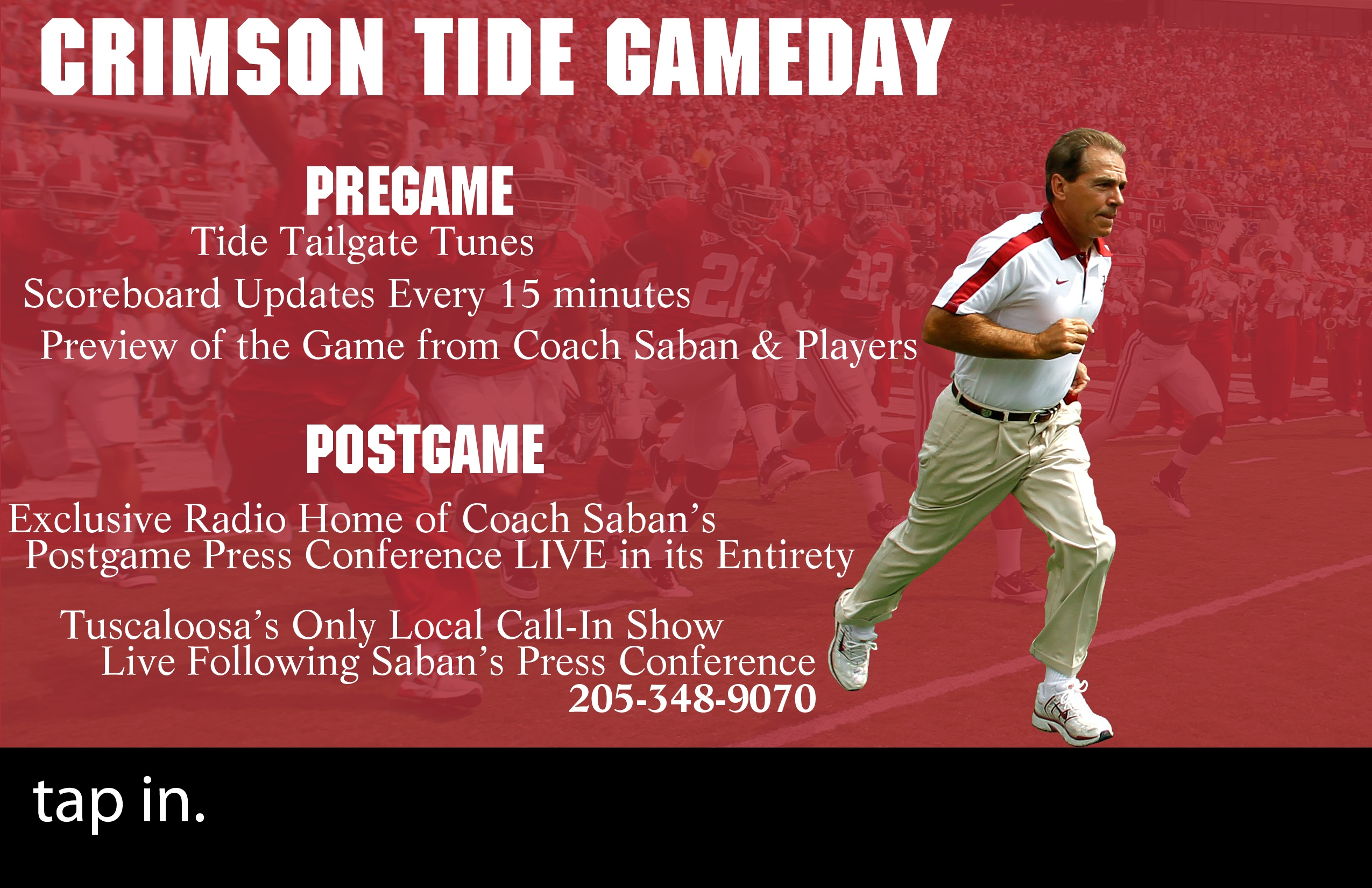 WVUA-FM Providing Wall-To-Wall Coverage of Alabama/LSU Pregame and Postgame