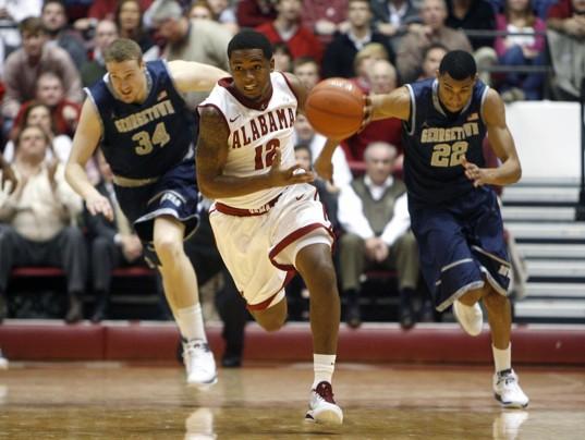 Men's Basketball Falls To Georgetown, 57-55