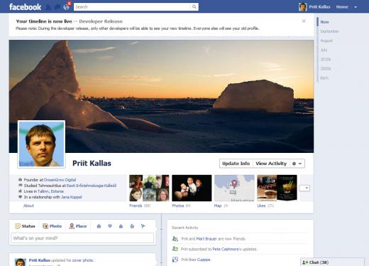 Facebook Begins Official Timeline Rollout