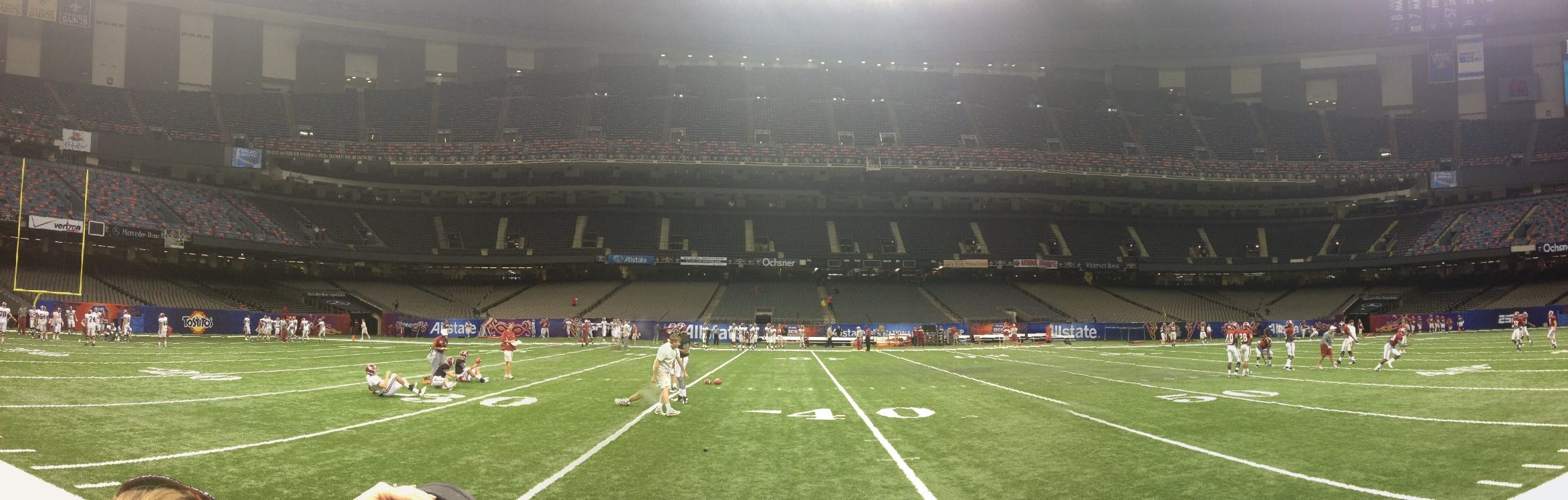 Crimson Tide Practice for First Time in the Superdome