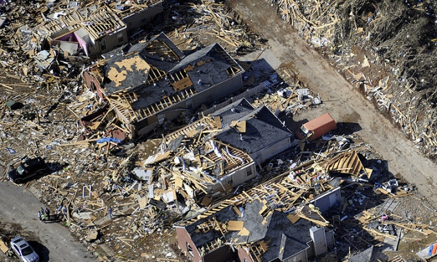Tornado recovery work begins in Alabama