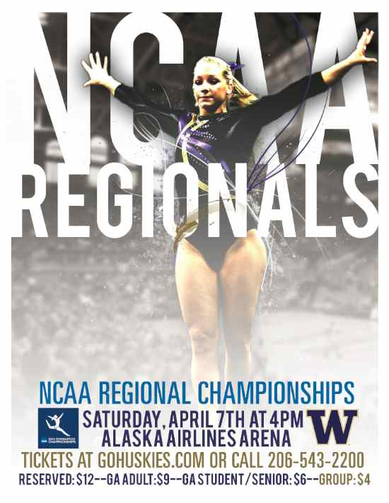 Gymnastics Earns No. 1 Seed into NCAA Seattle Regional Championship