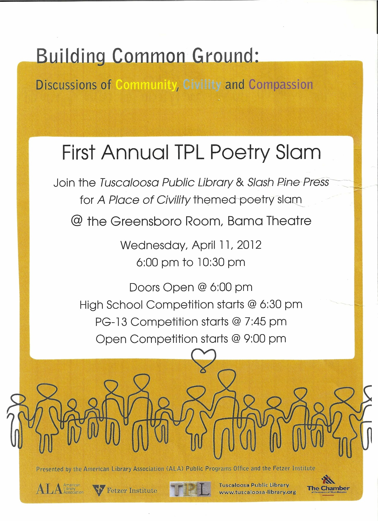 1st Annual 'A Place of Civility' Poetry Slam