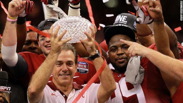 Alabama's $30K football trophy shatters