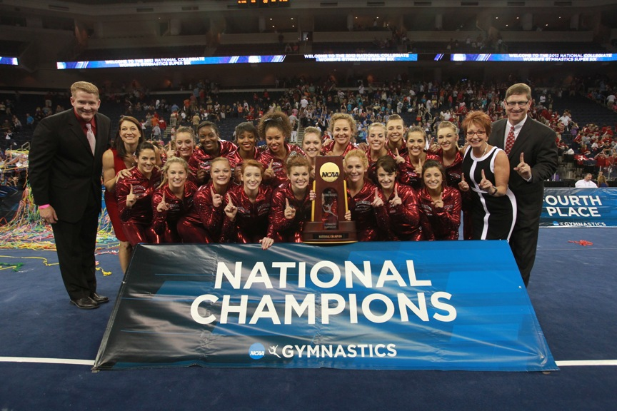 Gymnastics Wins Sixth National Championship
