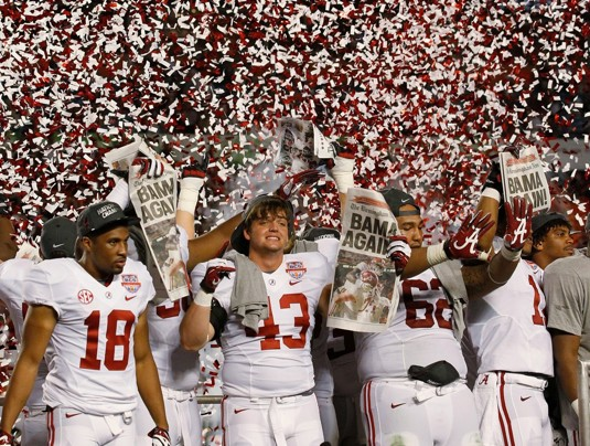 Alabama National Championship Team to be Honored