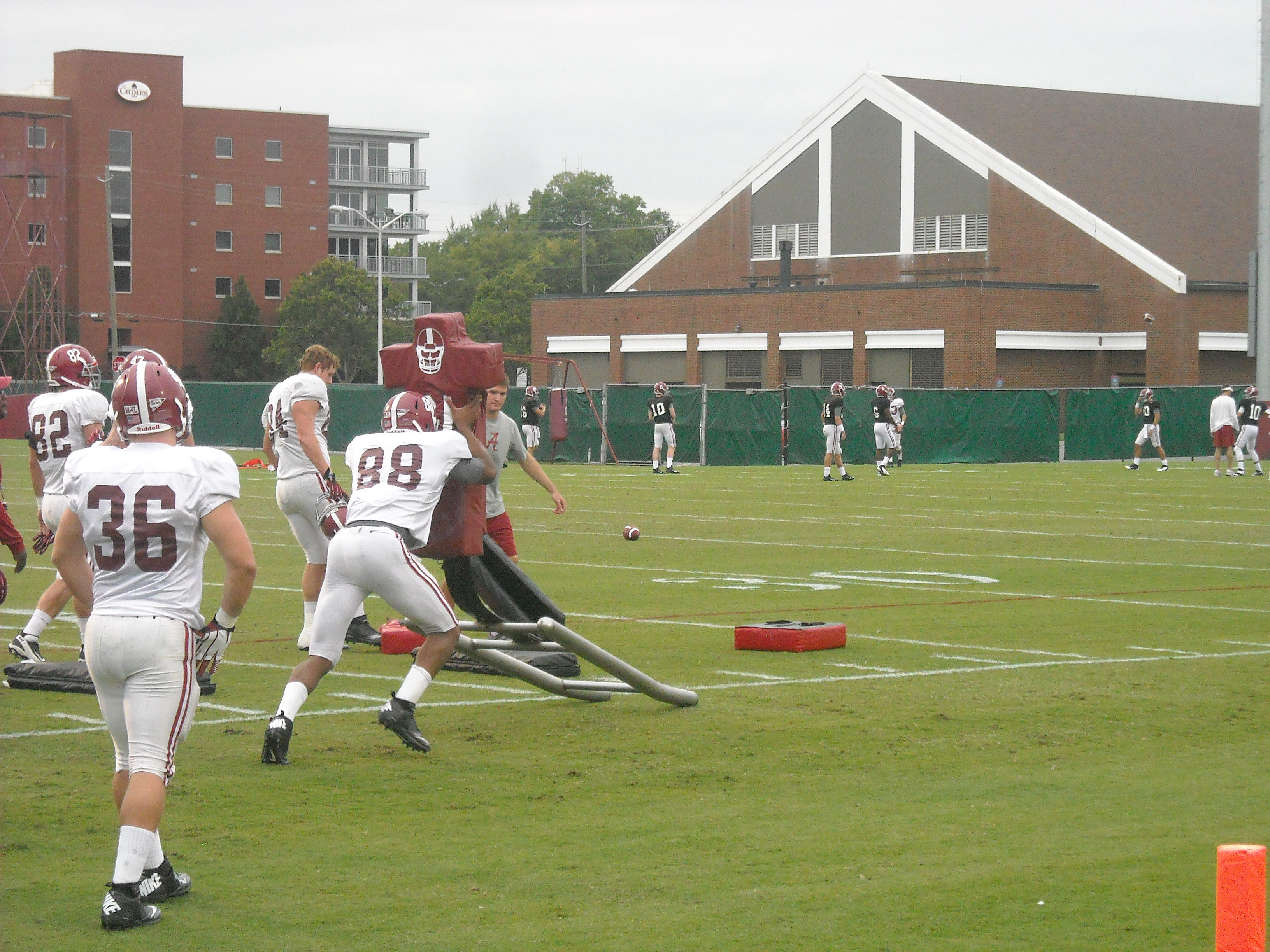 Football Practice Report (with video): Oct. 16, 2013