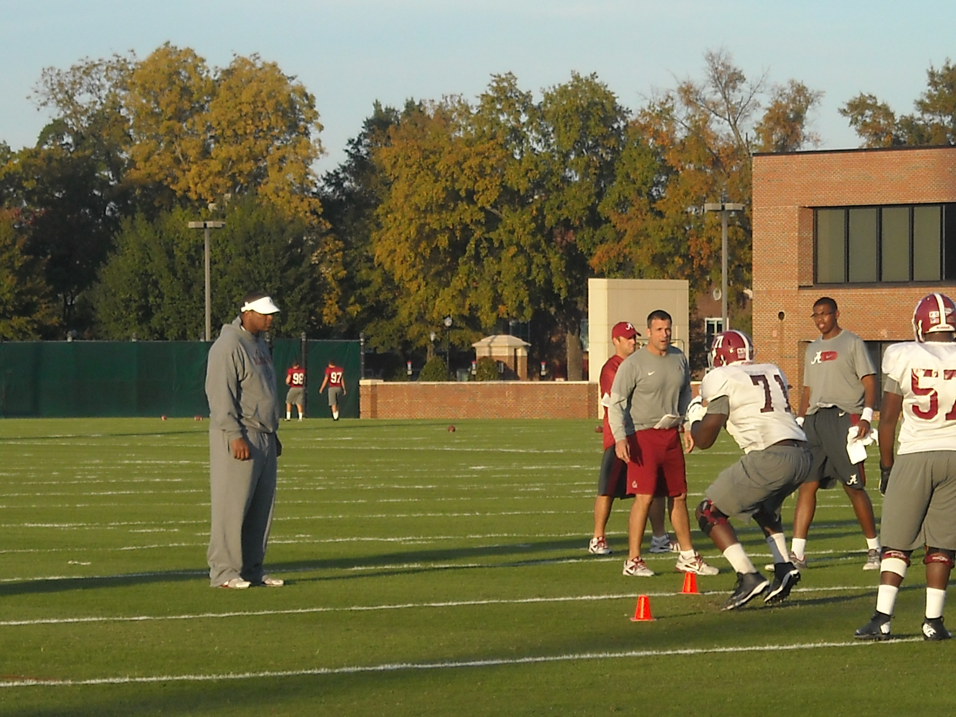 Football Practice Report (with video): Nov. 4, 2013