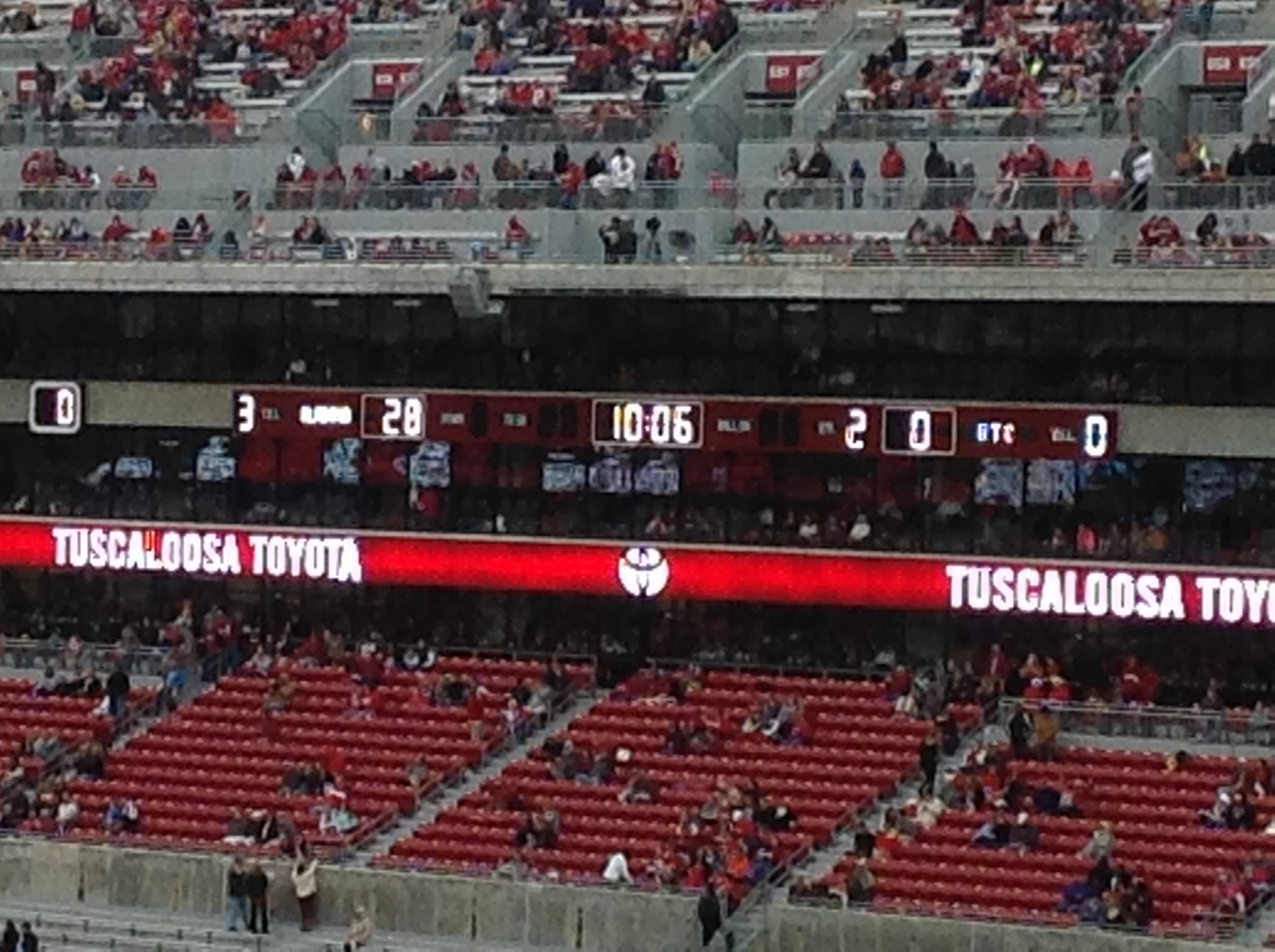 Halftime: Alabama 28, Chattanooga 0