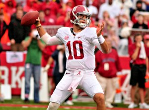 McCarron's legendary status at Alabama is certain, but his NFL Draft status is still up in the air. (Photo Credit/NYTimes.com)