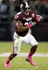 Ladarius Perkins will leave Mississippi State as one of the most productive running backs in school history. (Photo Credit/SI.com)