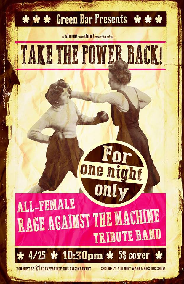 Rage Against The Machine Tribute Band Performs At Green Bar 4/25/15